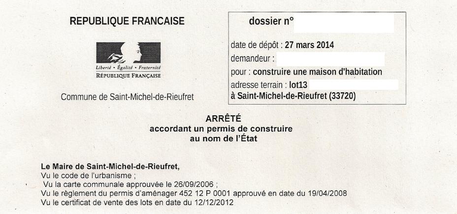 2014 juin constructionmaison33 for Signature permis de construire